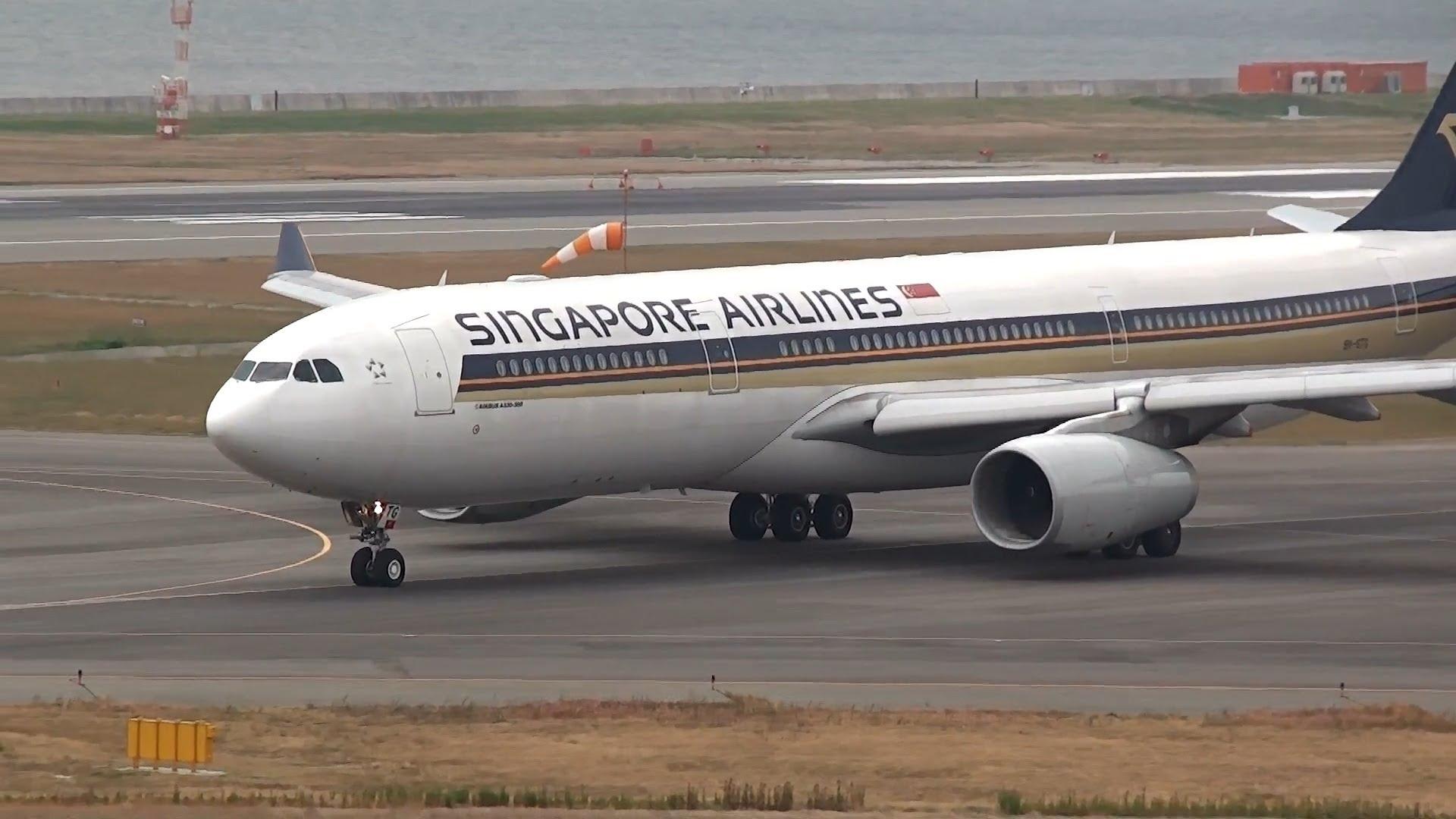 Обои авиалайнер, Singapore airlines, airbus, Самолёт, 300. Авиация foto 13